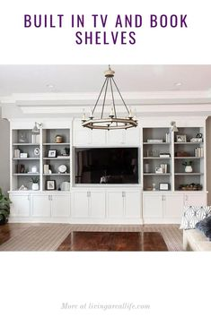 Built-In Bookcases and TV Unit - Living a Real Life Bookshelves Built In, Bookcase, Built In Tv Cabinet, Tv Cabinets, Tv Unit, Living Room, Building, House, Buildings