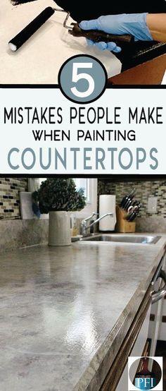 How To Paint Laminate Kitchen Countertops Laminate