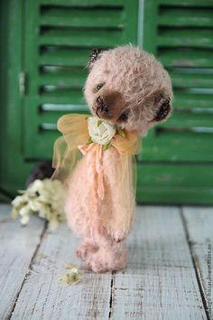 Купить Перси...ждет - тедди, нежность, ольга панова, коралловый, доброта, малыш, мишка тедди
