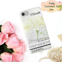 White Chanel Fashion Phone Case Chanel iPhone Case Ivory #ChanelPhoneCover #ChanelAccessories #NeutralFashionCase