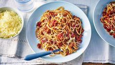 This meaty Bolognese hides lots of lovely vegetables, making it a healthy recipe for all the family.  Equipment and preparation: For this recipe you will need a hand-held blender or a food processor.   This meal when served as six portions provides 355 kcal, 26g protein, 42g carbohydrate (of which 7.5g sugars), 9.5g fat (of which 4g saturates), 4g fibre and 0.6g salt per portion.