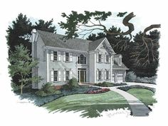 Eplans Colonial House Plan - Cost-Efficient Design - 2157 Square Feet and 4 Bedrooms from Eplans - House Plan Code HWEPL57436