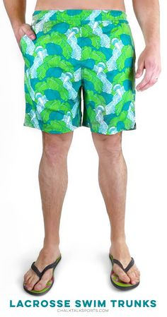 A great summer essential! Lacrosse swim trunks that will help you rock your love for lax this summer!