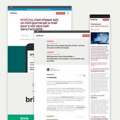 Brief.me, conception graphique et fonctionnelle par Upian