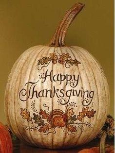 Happy Thanksgiving artistic pumpkin