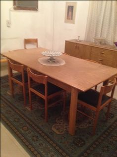 Riyadh Furniture SAR 1400 Dining Table 8 Chairs With Large Cupboard