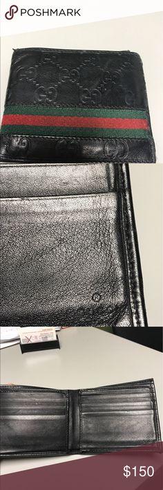 Men's Gucci Wallet Black 100% authentic good condition Gucci Bags Wallets