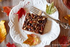 Gourmet Girl Cooks: Chocolate Pumpkin Pecan Cake - NEW RECIPE