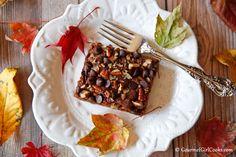 Gourmet Girl Cooks: Chocolate Pumpkin Pecan Cake - NEW RECIPE