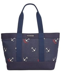 Tommy Hilfiger Daphne Sophie Anchor Canvas Tote