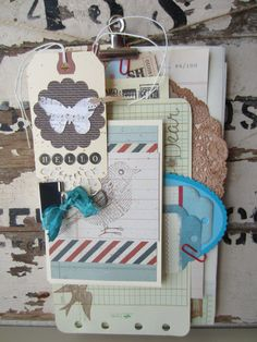 Stationary Letter Writing Set Upcycled Hand Embellished Shabby Vintage FREE SHIP