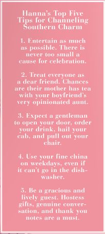 Tips for channeling southern charm - words to live by for sure!! #southern #charm