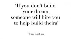 quote of the day tony gaskins