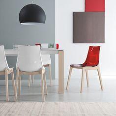 Chaise Moderne En Bois Et Plexi