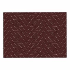 KESS InHouse Julia Grifol 'Brown Triangles' Maroon Pattern Dog Place Mat, x *** See this awesome image : Dog food container Dog Food Container, Dog Food Recipes, Pet Supplies, Tapestry, Pets, Awesome, Image Dog, Pattern, Triangles