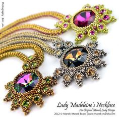 Beaded Ravoli Pendant on a Beaded Necklace