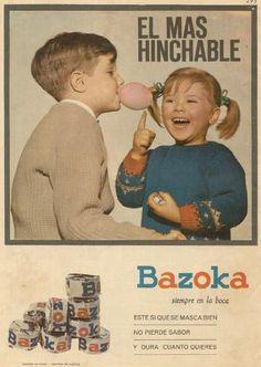 Anuncio antiguo del chicle Bazoka