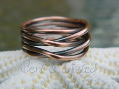 Antiqued Copper Knot Ring  | BentNTwistedCreations - Jewelry on ArtFire