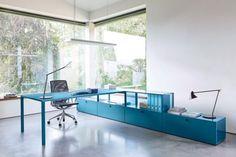"""Adé, du graue Bürotristesse: Werner Aisslinger entwarf für den Möbelhersteller Piure das Bürosystem """"Mesh"""", das für den perfekten Workflow sorgt."""
