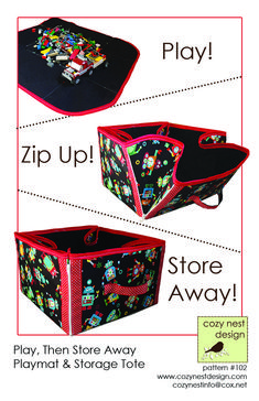 Play Then Store Away Pattern CND-102 (advanced beginner, bag, tote & purse)