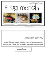 Frog Match File Folder Game