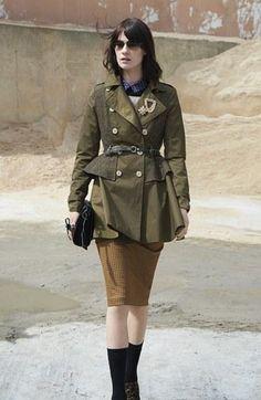 Beautiful Peplum Trench Coat!