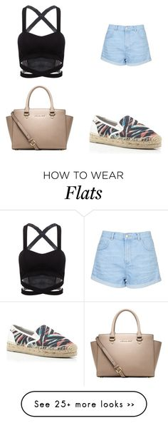 """""""Untitled #1100"""" by ayannap on Polyvore featuring Topshop, Dolce Vita and Michael Kors"""