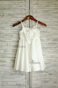 Taffettà fiore ragazza vestito matrimonio Pasqua di misdress, $39.99