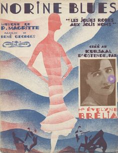 Sheet music cover by René Magritte, 1925, Norine Blues.