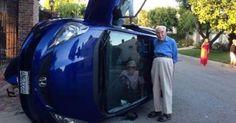 Essa senhora de 85 anos quase capotou o carro mas o que ela fez depois é inacreditável