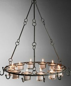 Another great find on #zulily! Hooked Metal Candle Chandelier #zulilyfinds