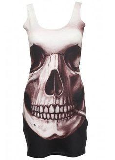 Smoking Skull Bodycon Dress