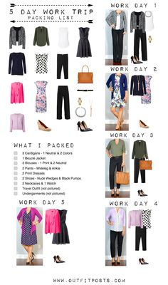 outfit post: 5 day work trip to client site | Outfit Posts