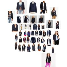 Navy blazers in all price points. Casual Work Attire, Girl Style, My Style, Navy Blazers, Interview Attire, Body Types, Business Casual, Work Wear, Girl Fashion