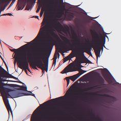 Cute Anime Profile Pictures, Matching Profile Pictures, Cute Anime Pics, Anime Love Couple, Cute Anime Couples, Chica Anime Manga, Kawaii Anime, Persona Anime, Anime Devil