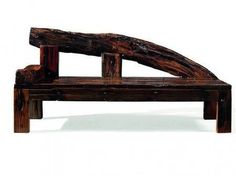 DS-A02 Merope Chaise Lounge with Acacia and Robinia Wood Construction in Rustic Finish