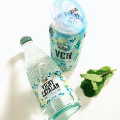 Vichy Catalán Plus sabor menta, en lata o en botella de vidrio