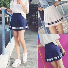 Sexy++Women+Tennis+High+Waist+Pleated+Party+Skirt+Plain+Skater+Flared+Mini+Dress Description: Style:+High+waist+Pleated+Miniskirt+ Occasion:+Party/Evening/Cocktail/+miniskirt Material:+Cotton+Blend Color:+White+Blue Size:+S+M+L Tags/No. Mini Skirt Dress, Party Skirt, Pleated Mini Skirt, Cute Skirts, Mini Skirts, Quilted Skirt, Printed Skirts, Skirt Outfits, Pretty Outfits