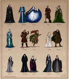 I noticed it was - at least for me - quite funny to design the various Valar seperately and then see the finished character standing next to his or her spouse for the first time. That's why I made ...