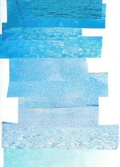 turquoise sea collage