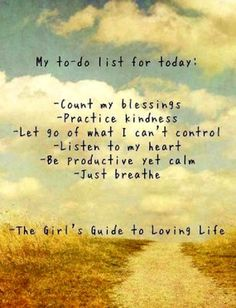 My To Do List For Today - Count My Blessings - Practice Kindness - Just Breath - Magnet Or Picture Plaque Made In The USA