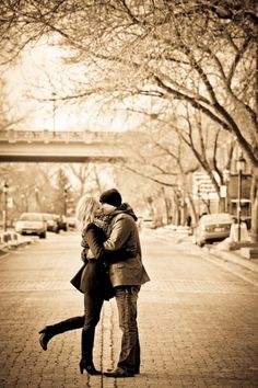 Sunset Blue Productions - Love the sepia and middle-of-the-street look.  Engagement photos