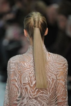 a twist on a classic ponytail