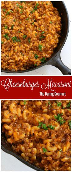 Homemade Hamburger Helper Cheeseburger Macaroni {Copycat}.  daringgourmet.com