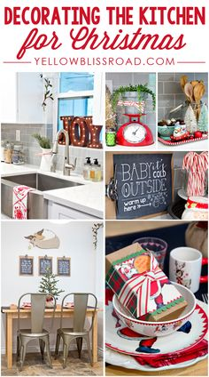 Decorating the Kitchen for Christmas