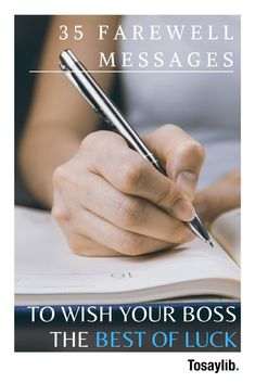 When your boss announces that he or she is leaving your company, you may wish to write them a farewell message, and wish them good luck. Get inspired with these 35 examples. Goodbye Message, Farewell Message, Quit Job, I Quit, I Hope You Know, Never Forget You, Farewell To Boss, My Strength And Weakness, Good Luck Wishes