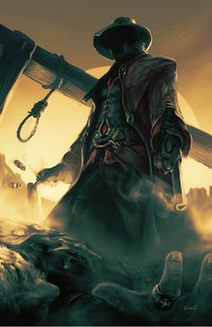F n&Seedy / assassin's creed :: cowboy :: gallows :: guy (dude, fellow) :: games :: art (beautiful pictures) Character Concept, Concept Art, 3d Character, Arte Assassins Creed, Westerns, Connor Kenway, The Dark Tower, Art Anime, Cowboy Art