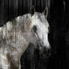 greige: interior design ideas and inspiration for the transitional home : Horse art....