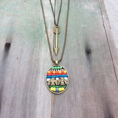 Tribal Findings Necklaces/Double Strand/Aztec/Southwestern/Native American by TheOmbrePoodle on Etsy