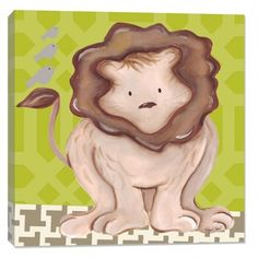 Liam Lion in Green Canvas Reproduction #rosenberryrooms